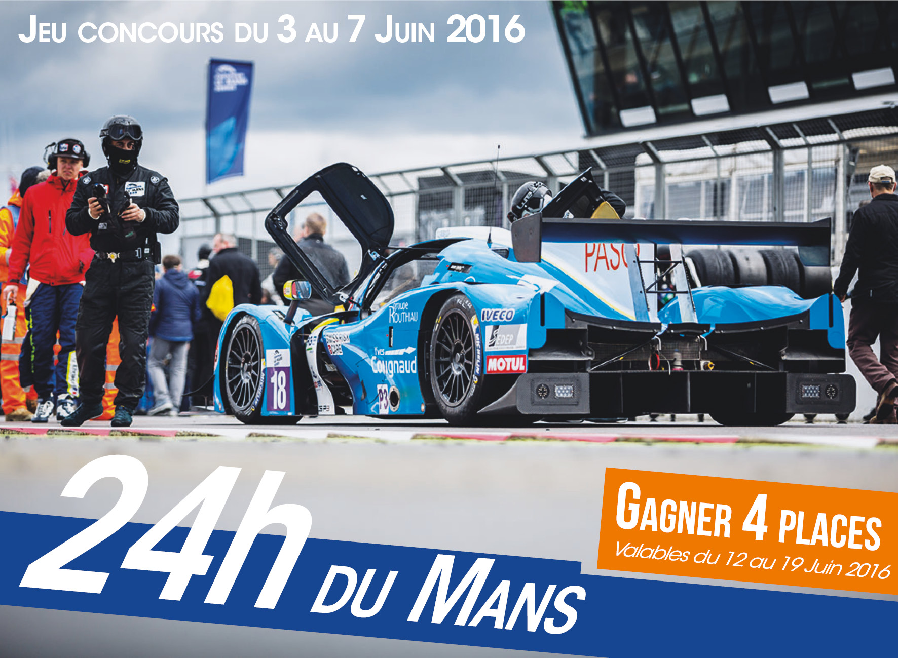 24h du Mans 4 places PASO Traiteur