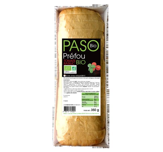 Préfou Tomate Basilic Bio par PASO